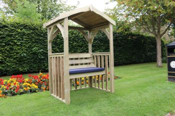 Anastasia 2 seat Garden Arbour, wooden garden bench seat with trellis