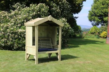 Cottage Arbour - Seats 2, wooden garden bench