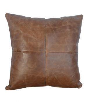 Buffalo Hide Leather Cushion