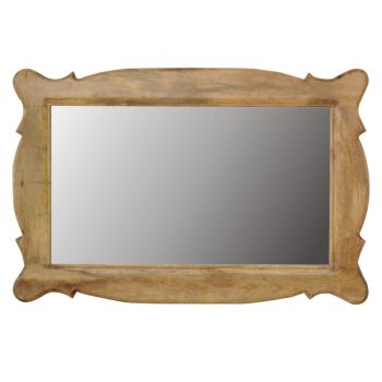 Hand Carved Oblong Mirror Frame