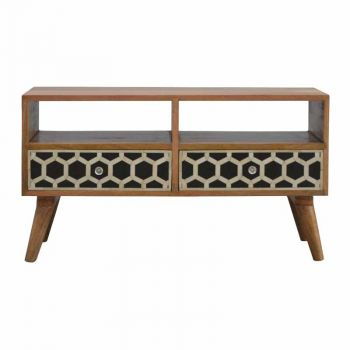 Media Unit with Bone Inlay Drawer Fronts