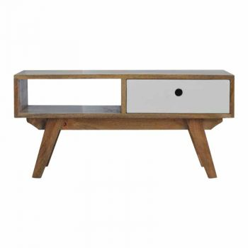 Two Tone Hand Painted Hole Cut Out Media Unit