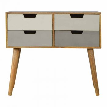 4 Drawer Nordic Style Grey Hand-painted Console Table