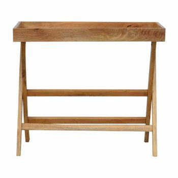 Wooden Buttler Tray with Foldabale Legs