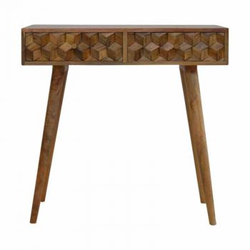 Tile Carving Console Table