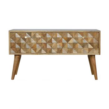 Small Tiled Bench With 2 Drawers