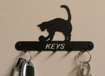 Cat and Ball Key Holder