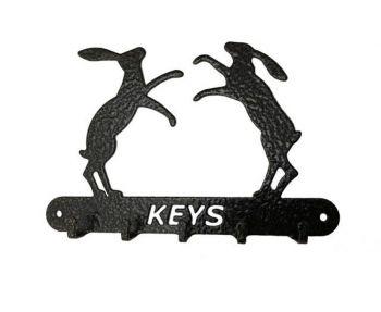 Boxing Hares Key Holder