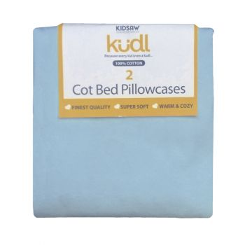 Kidsaw Kudl Kids Pillowcases 100% Cotton (2) Blue