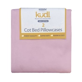 Kidsaw Kudl Kids Pillowcases 100% Cotton (2) Pink