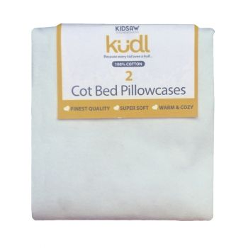 Kidsaw Kudl Kids Pillowcases 100% Cotton (2) White
