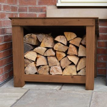 Langham Minor Log Store - Rustic Brown