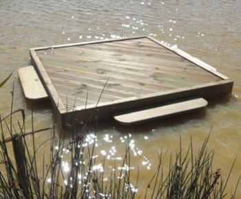 Large Square Duck Float, Waterfowl Platform, Floating Waterfowl Pontoon