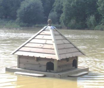 Large Square Floating Duck House, Waterfowl Nesting Box for Pond or Lake