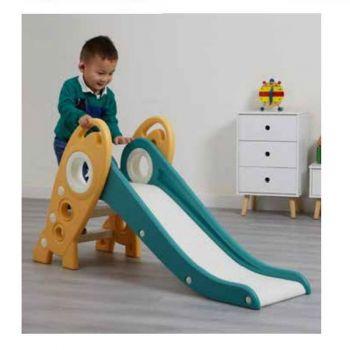 Folding Kids Rocket Slide - Green and Gold