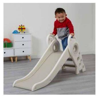 Folding Kids Rocket Slide - White and Grey