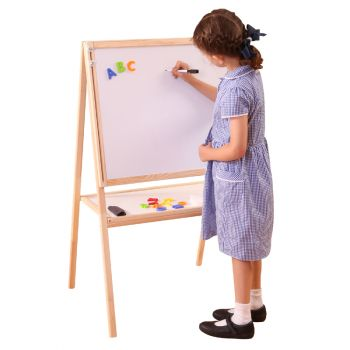 Kids Height Adjustable and Reversible Double Sided Easel
