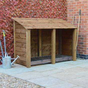 Hambleton 4Ft Log Store - Rustic Brown