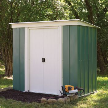 6x4 Greenvale Metal Pent Shed with Floor Including Assembly