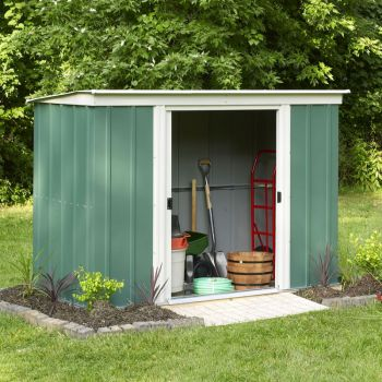 8x4 Greenvale Metal Pent Shed with Floor Including Assembly