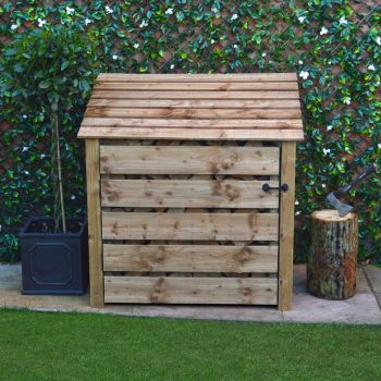 Greetham 4Ft with Doors - Rustic Brown