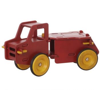 Moover Wooden Ride On Dump Truck Red