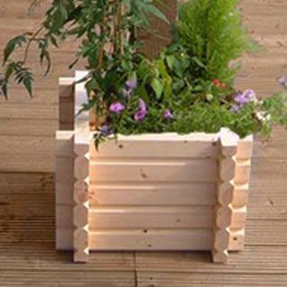 Buildround 27x27 sq planter