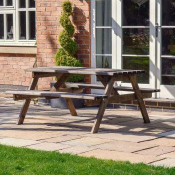 Oakham Picnic Bench 5ft - Rustic Brown