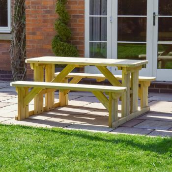 Oakham Rounded Bench set 4ft Light Green