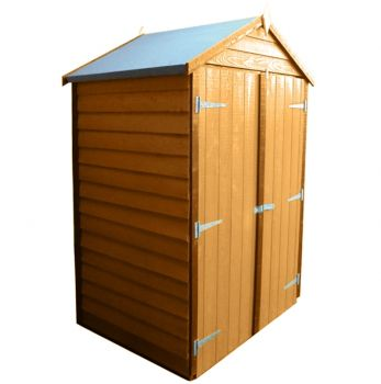Tool Store 4 x 3 Double Door Garden Shed - Dip Treated Approx 4 x 3 Feet