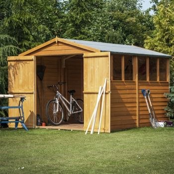 Overlap Double Door W Garden Shed - Dip Treated Approx 12 x 6 Feet