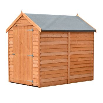 Overlap 6' x 4' Dip Treated Value Range Apex Shed Single Door