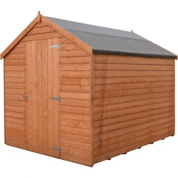 Overlap 7' x 5' Dip Treated Value Range Apex Shed Single Door