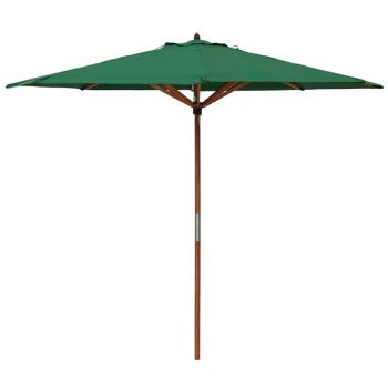 Willington Green 2.7m Wooden Parasol +15Kg Base