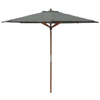 Willington Grey 2.7m Wooden Parasol