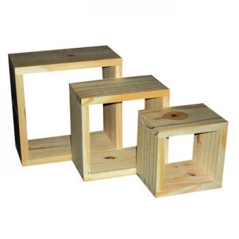 P/S Set Of 3 Wall Cubes