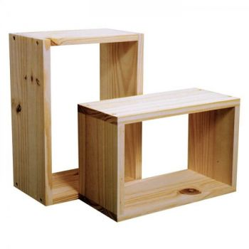 P/S Set Of 2 Wall Cubes