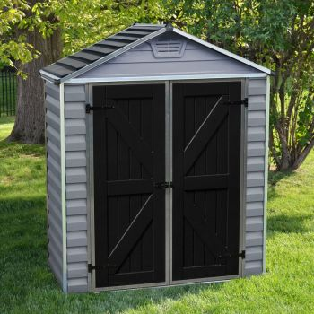 Palram 6x3 Skylight Grey Deco Apex Shed