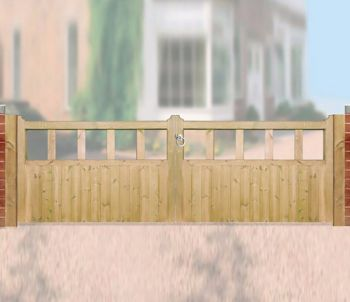 Quorn Garden Double Gate 360cm Wide x 90cm High