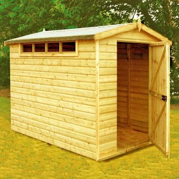 Security Apex Handmade Garden Shed Approx 8 x 6 Feet