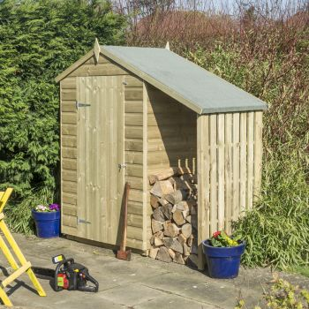 Oxford 4x3 Shed with Lean To