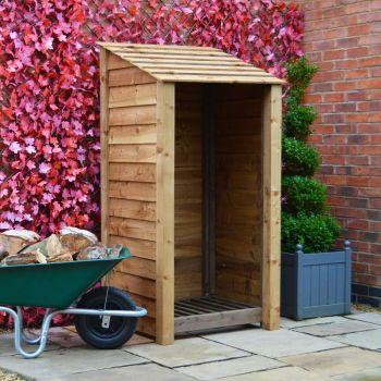 Burley 6Ft Log Store - Rustic Brown