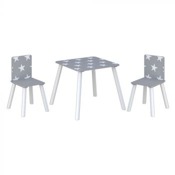 Star Table and Chairs Grey