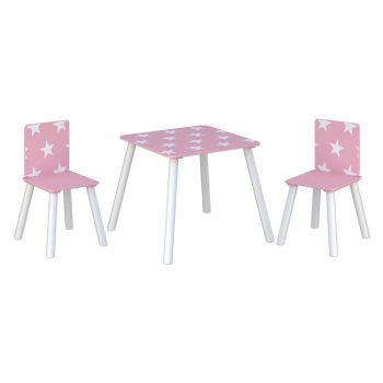 Star Table and Chairs Pink