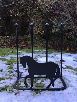 2 Pair Boot Rack - Horse