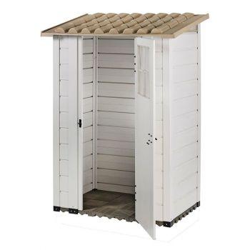 "Tuscany Evo 4' x 2'6\"" 100 Plastic Garden Storage Shed Single door"