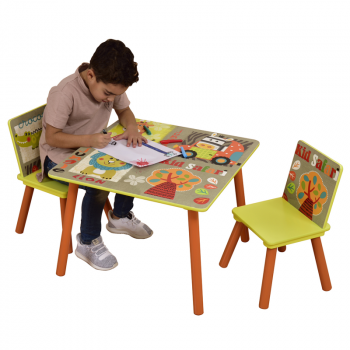 Kid Safari Table & 2 Chair Set