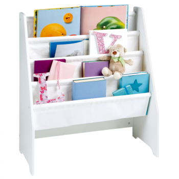 White Wooden Book Display