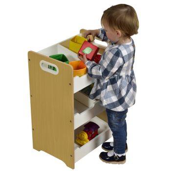 Kids White & Pine Sloping Storage