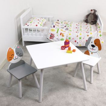 Cat and Dog Table and Chairs Set